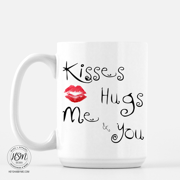 Hugs and Kisses - Mug
