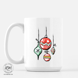 Watercolor Ornaments - Mug