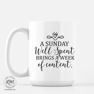 Sunday well spent - Mug