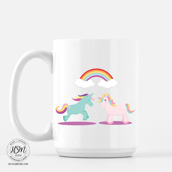 Unicorns Rainbow - Mug