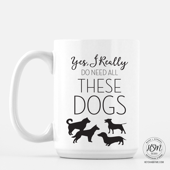 How many dogs - Mug