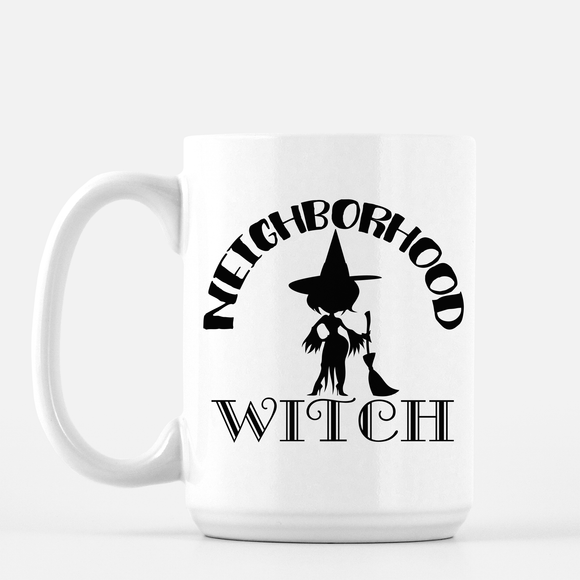White Ceramic 15 oz - Neighborhood Witch