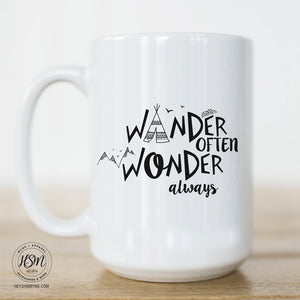 Wander Often. Wonder Always. Coffee Mug