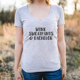 Vino, Sweatpants and Bachelor - Tee - Shirt