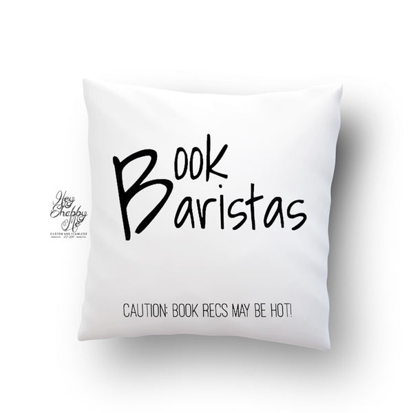 Book Baristas Caution Pillow
