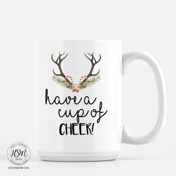Cup of Cheer - Antlers - Mug