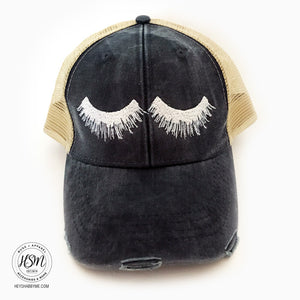 Eye Lashes Hat