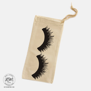 Eye Lashes Canvas Wine Bag