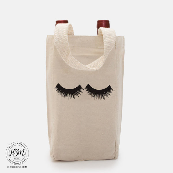 Eye Lashes Double Wine Tote