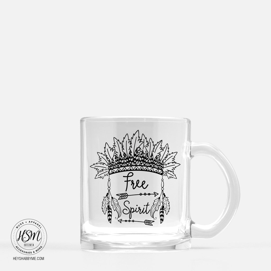 Free Spirit, 11oz Glass Mug