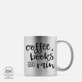 Coffee, Books and Rain - Color - Mug