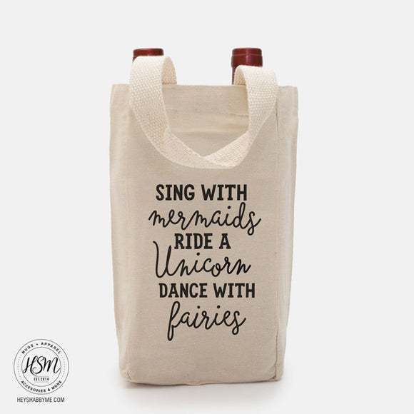 Mermaids, Unicorn, Fairies - Double Vino - Bag