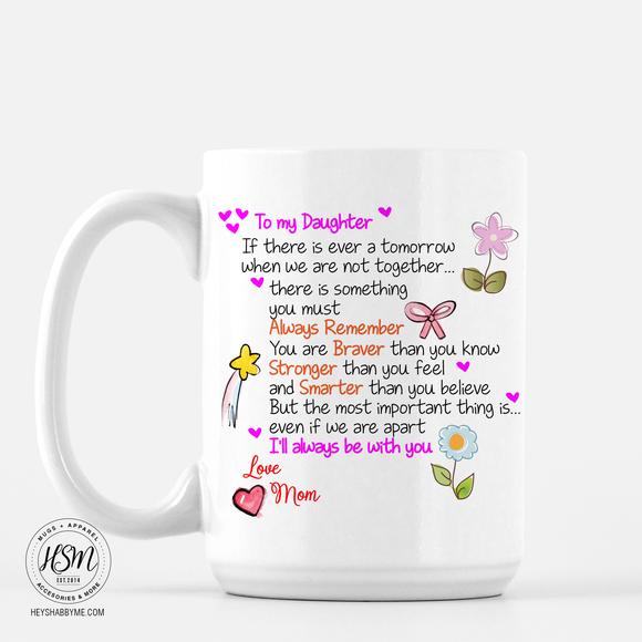 Message to Daughter - Mug