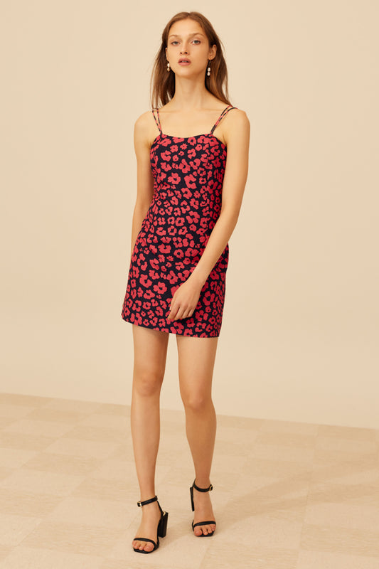 HEART OF ME DRESS hot pink abstract floral