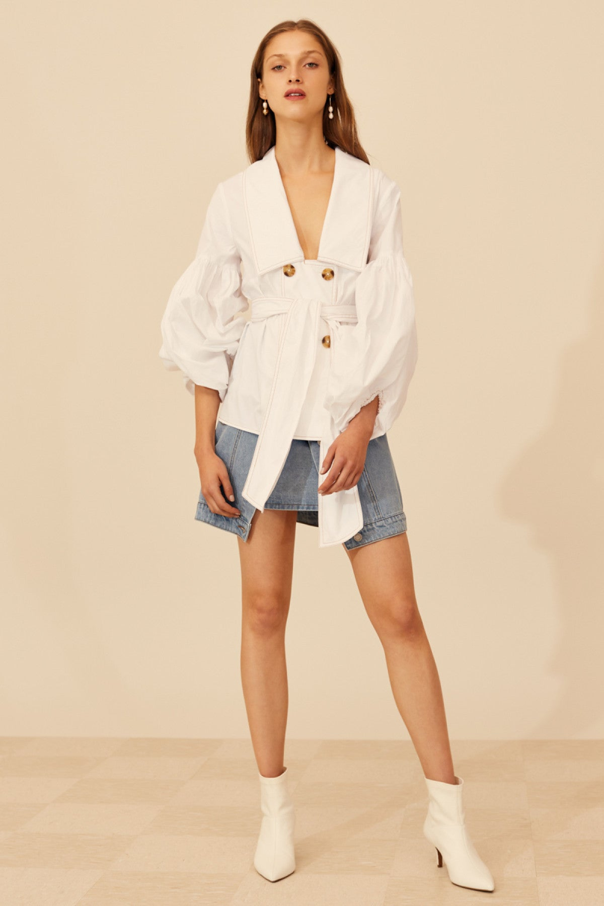 PATENT SHIRT white
