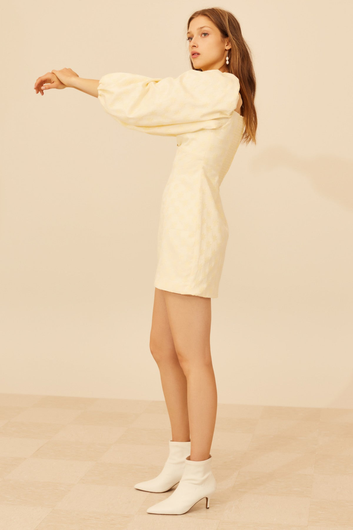 ELATE LONG SLEEVE DRESS butter