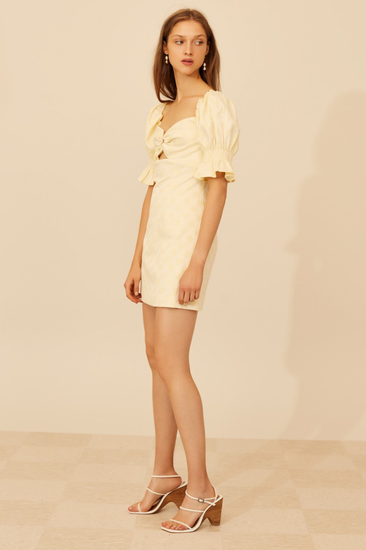 ELATE SHORT SLEEVE DRESS butter