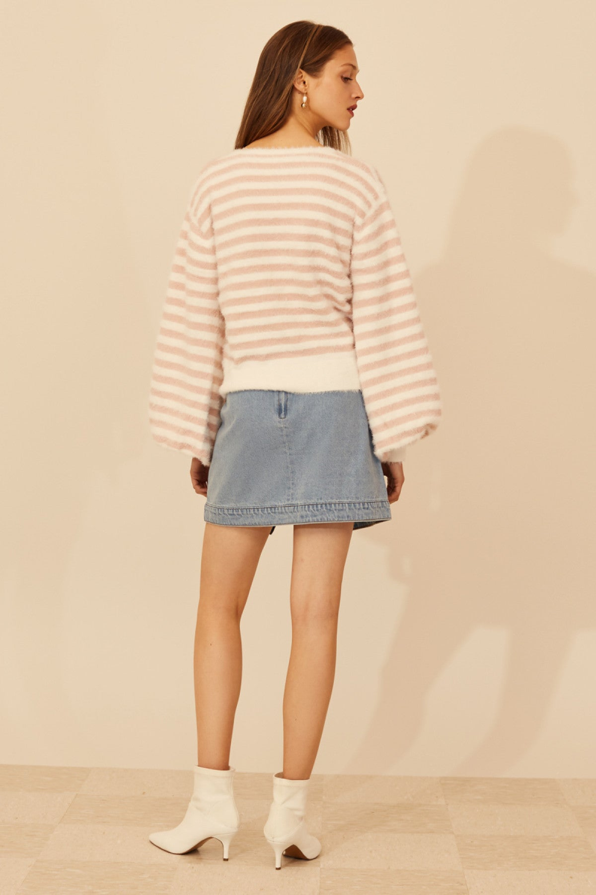 CONFINE KNIT JUMPER shell stripe