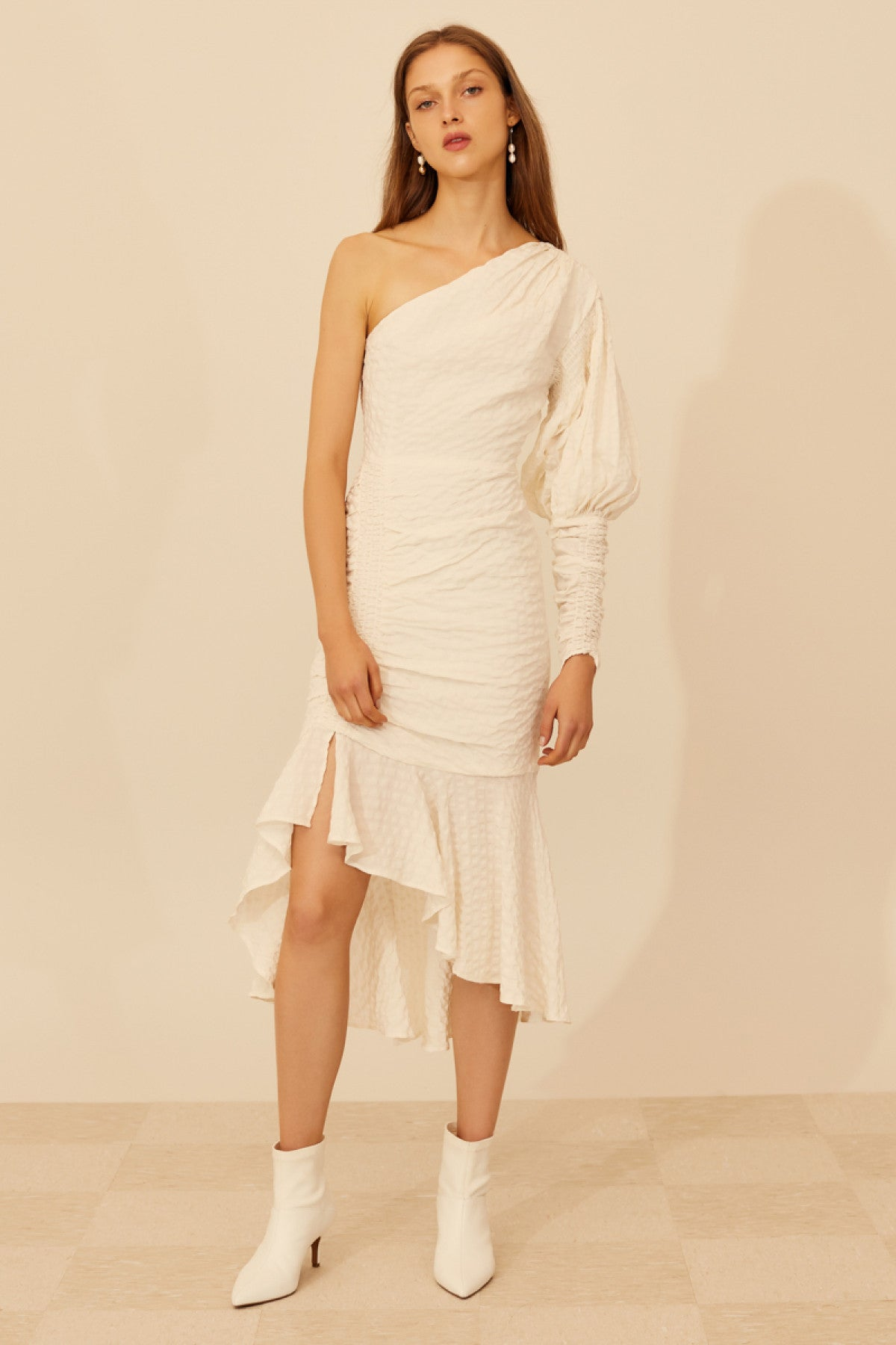 DISTINCT MIDI DRESS ivory