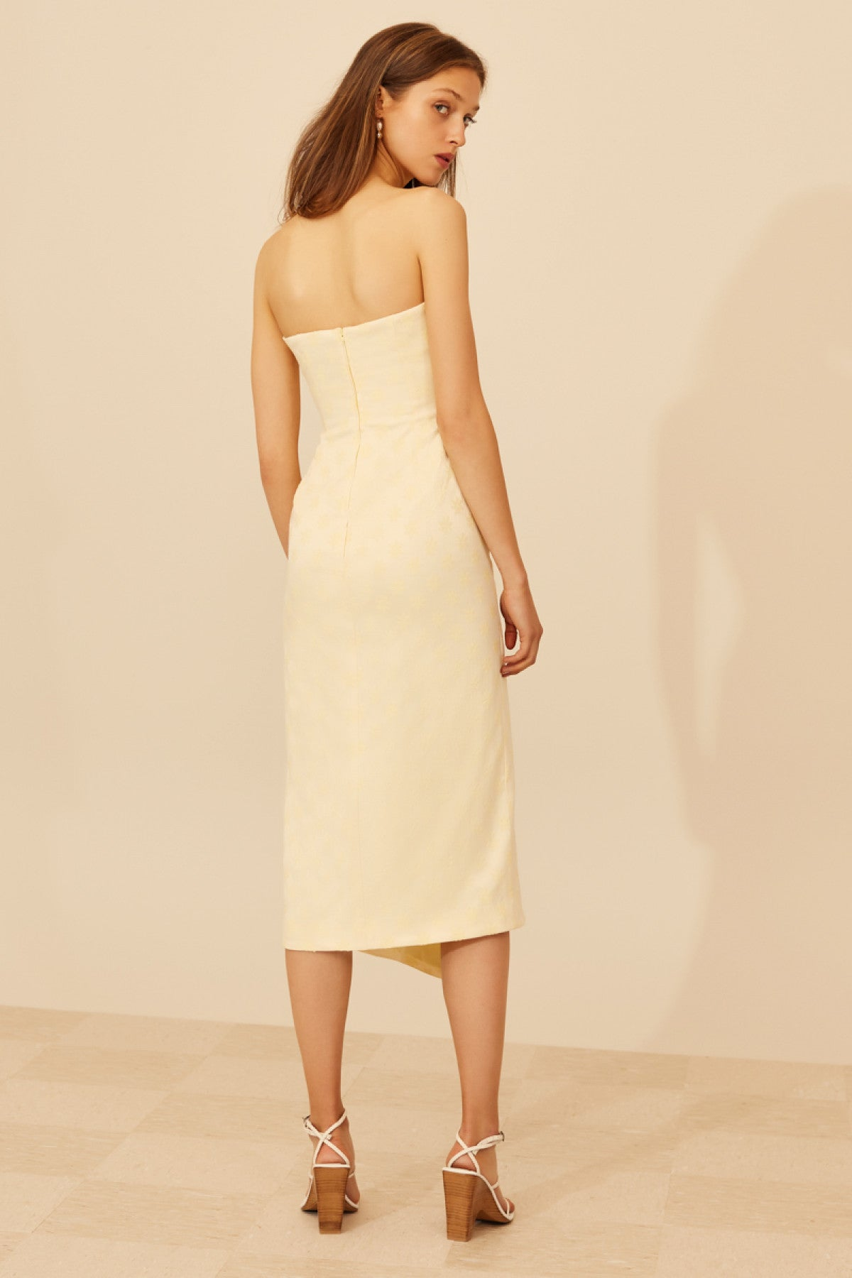 ELATE MIDI DRESS butter