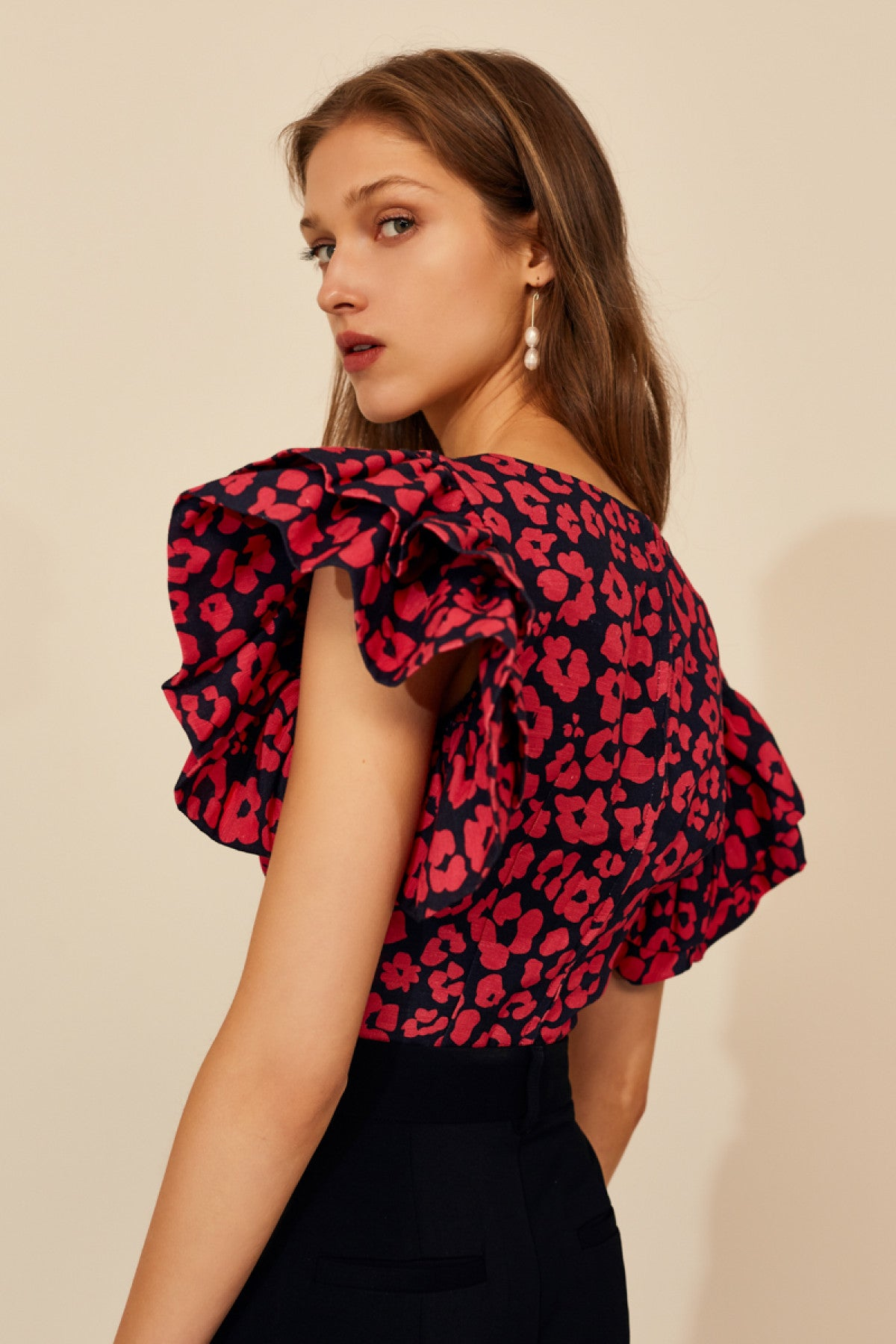HEART OF ME TOP hot pink abstract floral