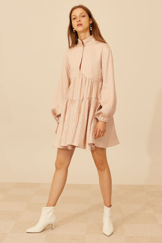THROUGH YOU LONG SLEEVE DRESS shell