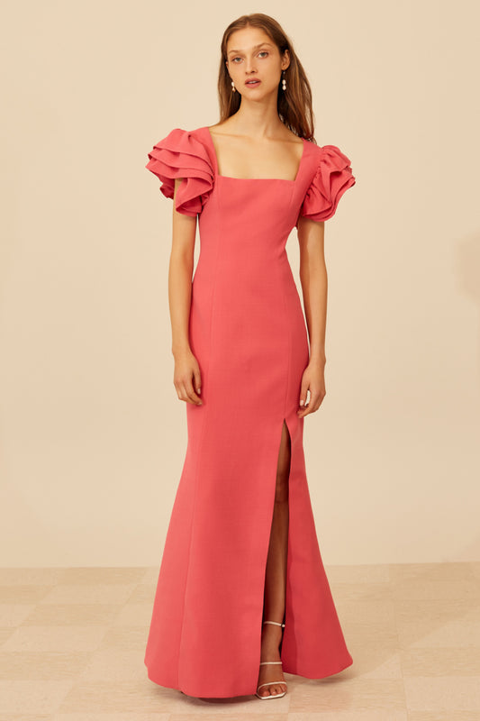 HEART OF ME GOWN hot pink