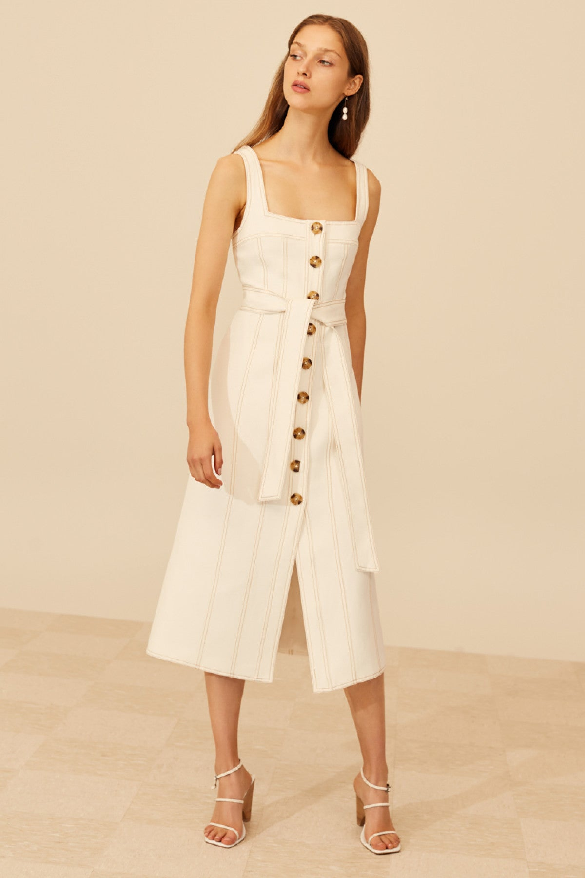 DEVOTED MIDI DRESS ivory