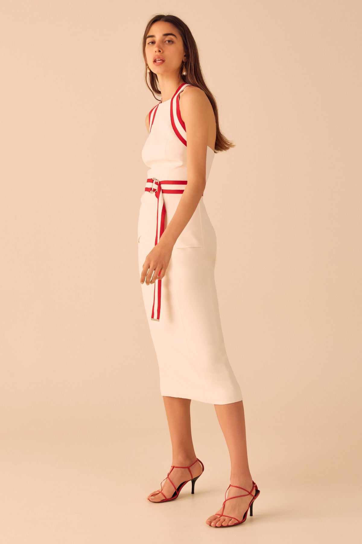 PURSUE MIDI DRESS vanilla