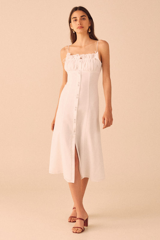 PERFECT PART MIDI DRESS ivory