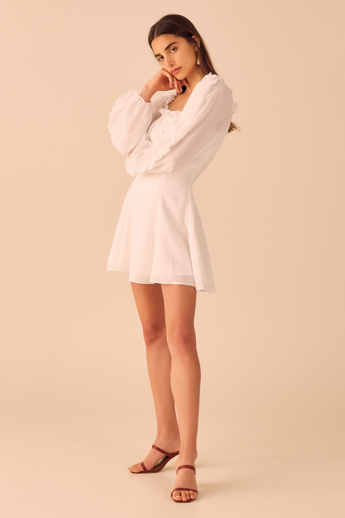 PERFECT PART MINI DRESS ivory