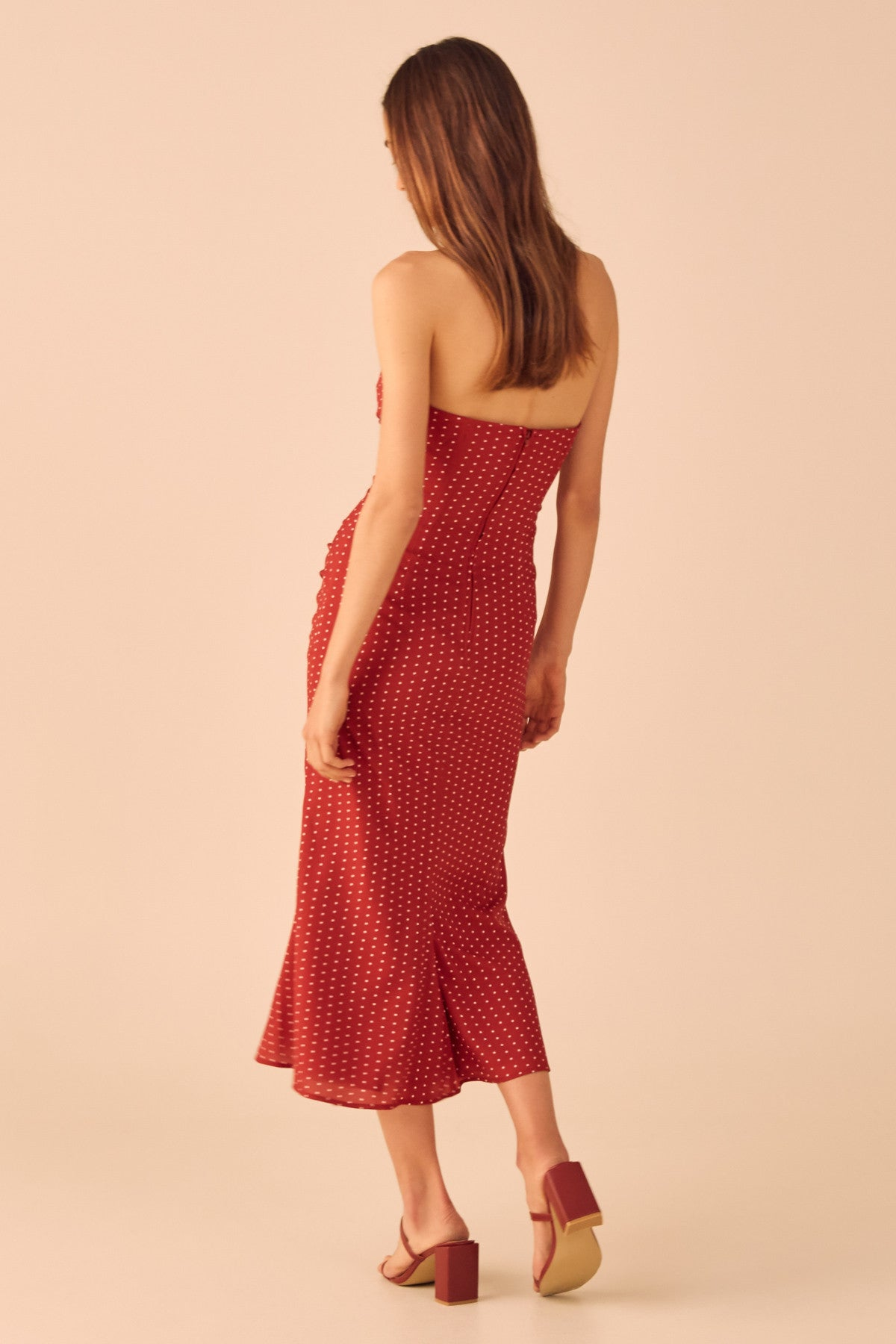 VICES MIDI DRESS red spot