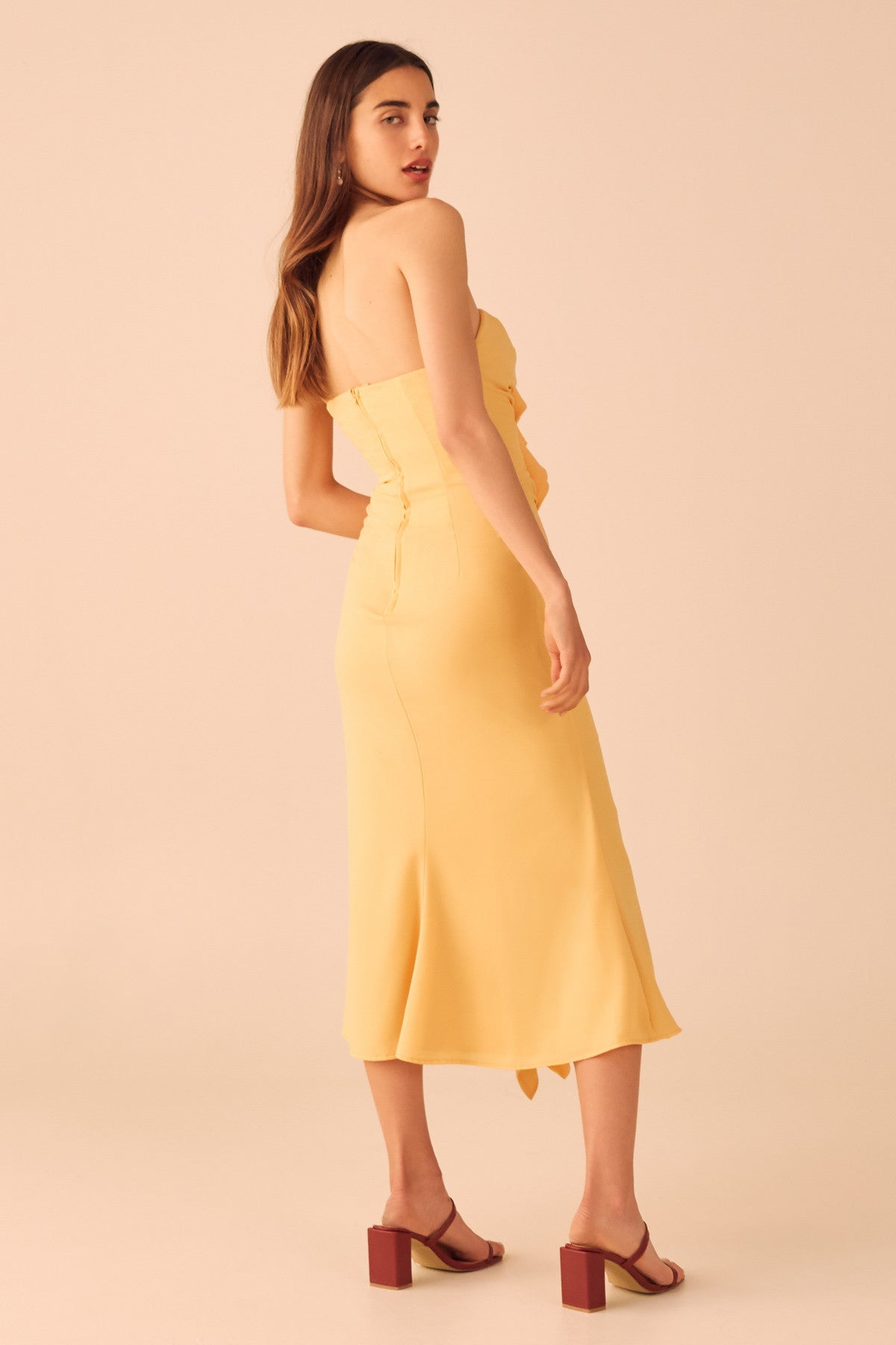 VICES MIDI DRESS marigold