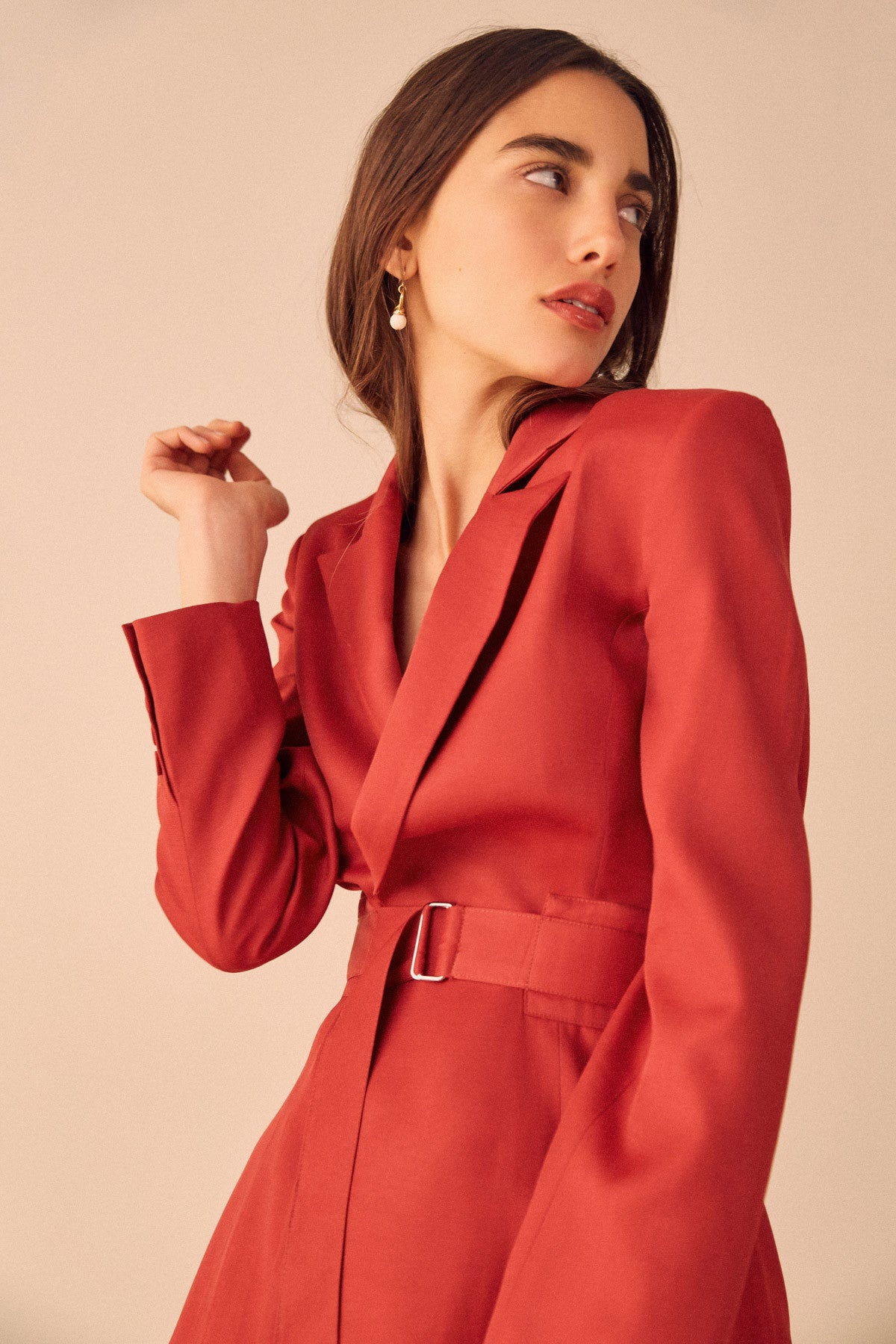 THE LIGHT BLAZER red
