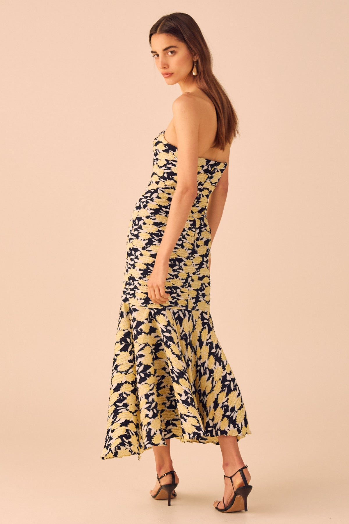 ENLIGHT MIDI DRESS marigold floral