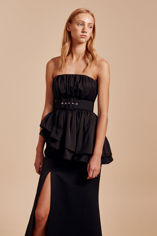 SILENCED GOWN black