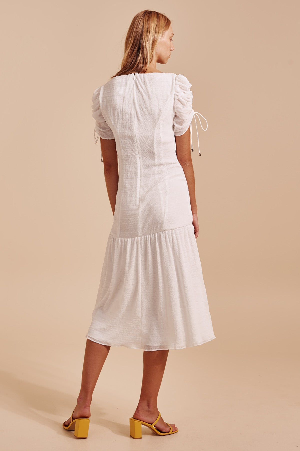 METHOD MIDI DRESS ivory