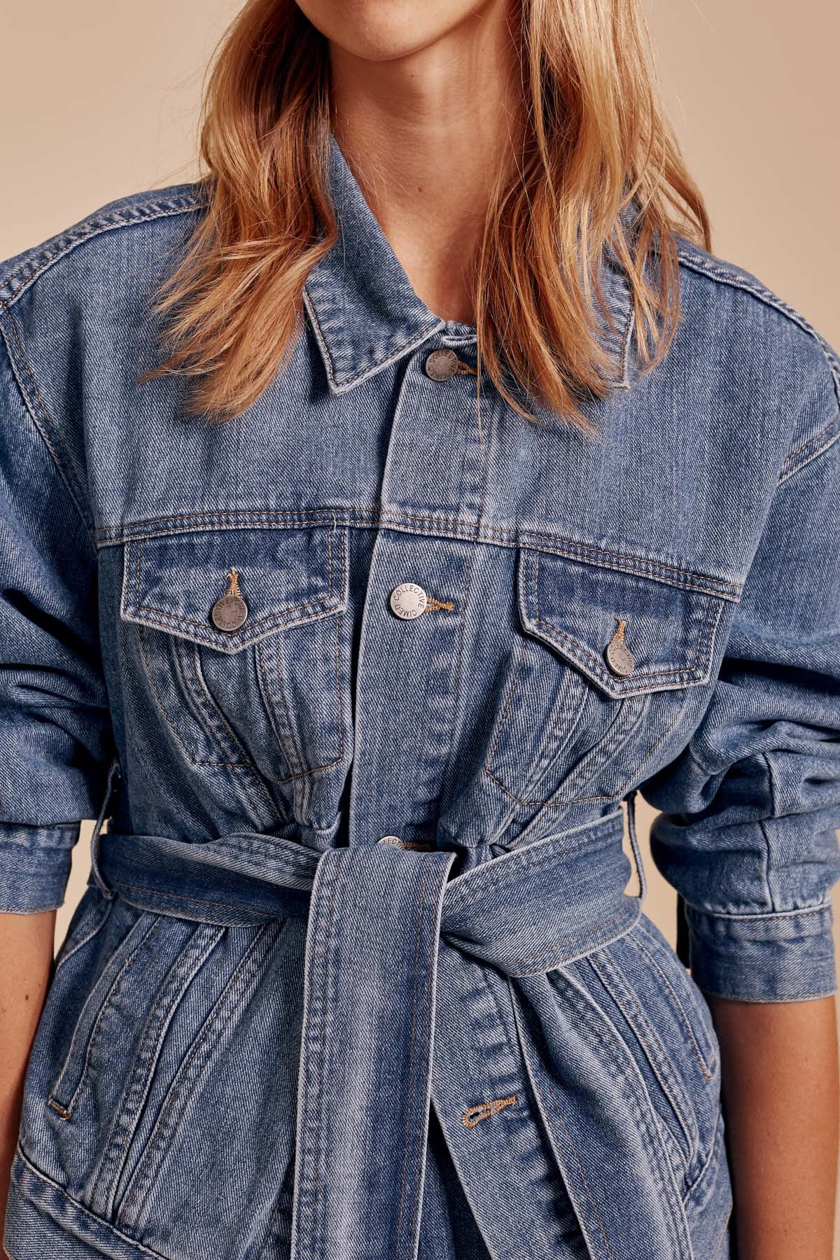 OUT OF SIGHT JACKET blue denim