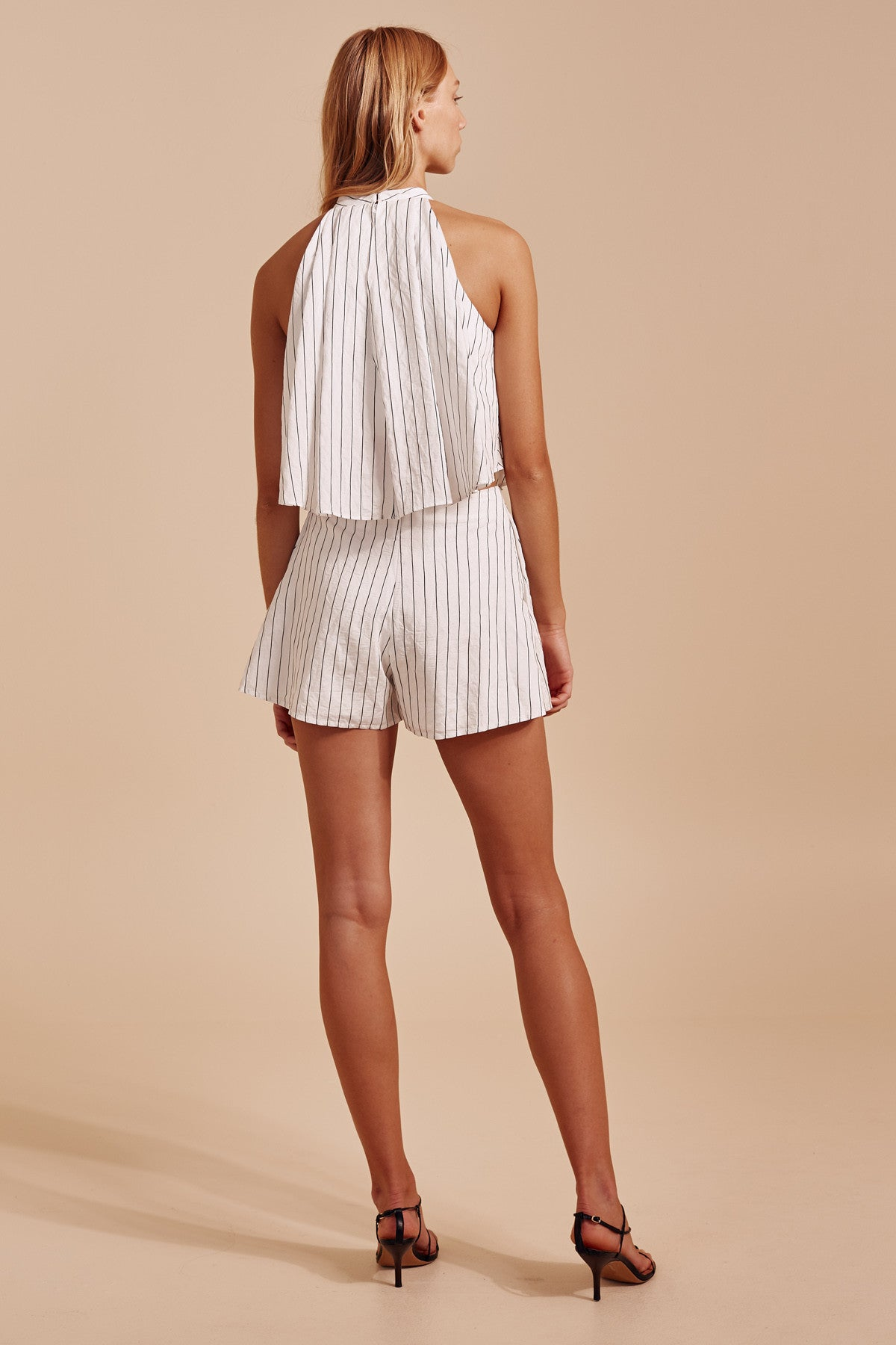 SUFFUSE SHORT ivory stripe