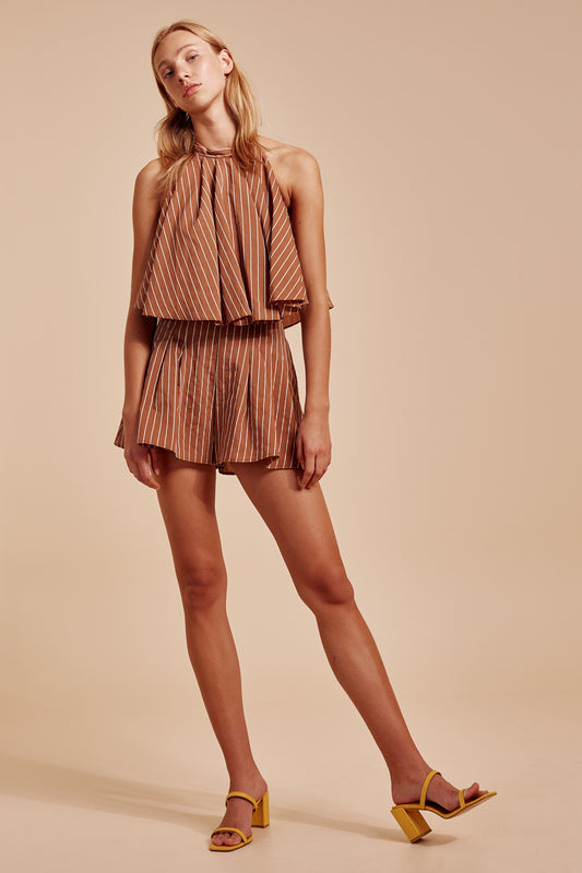 SUFFUSE SHORT tan stripe
