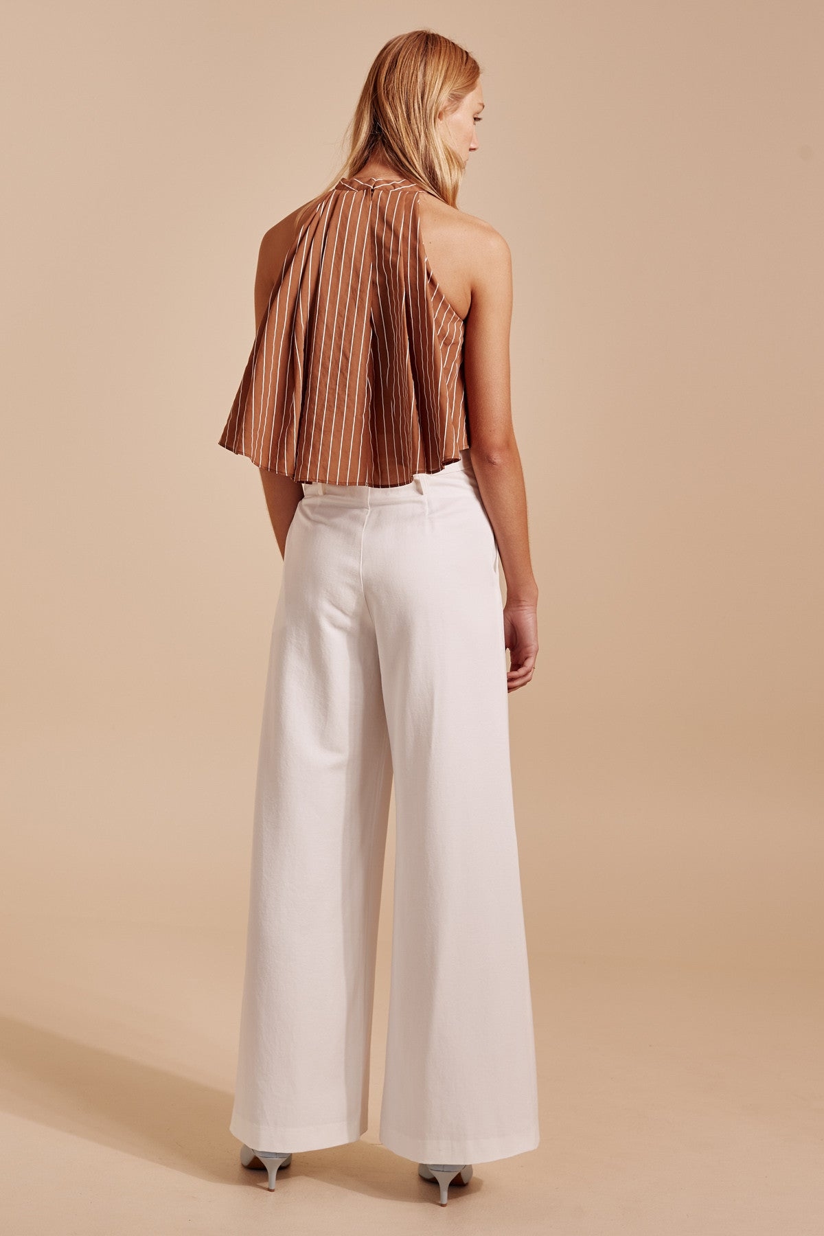 SUFFUSE TOP tan stripe