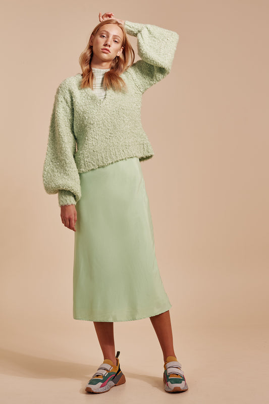 SATURATE KNIT JUMPER mint