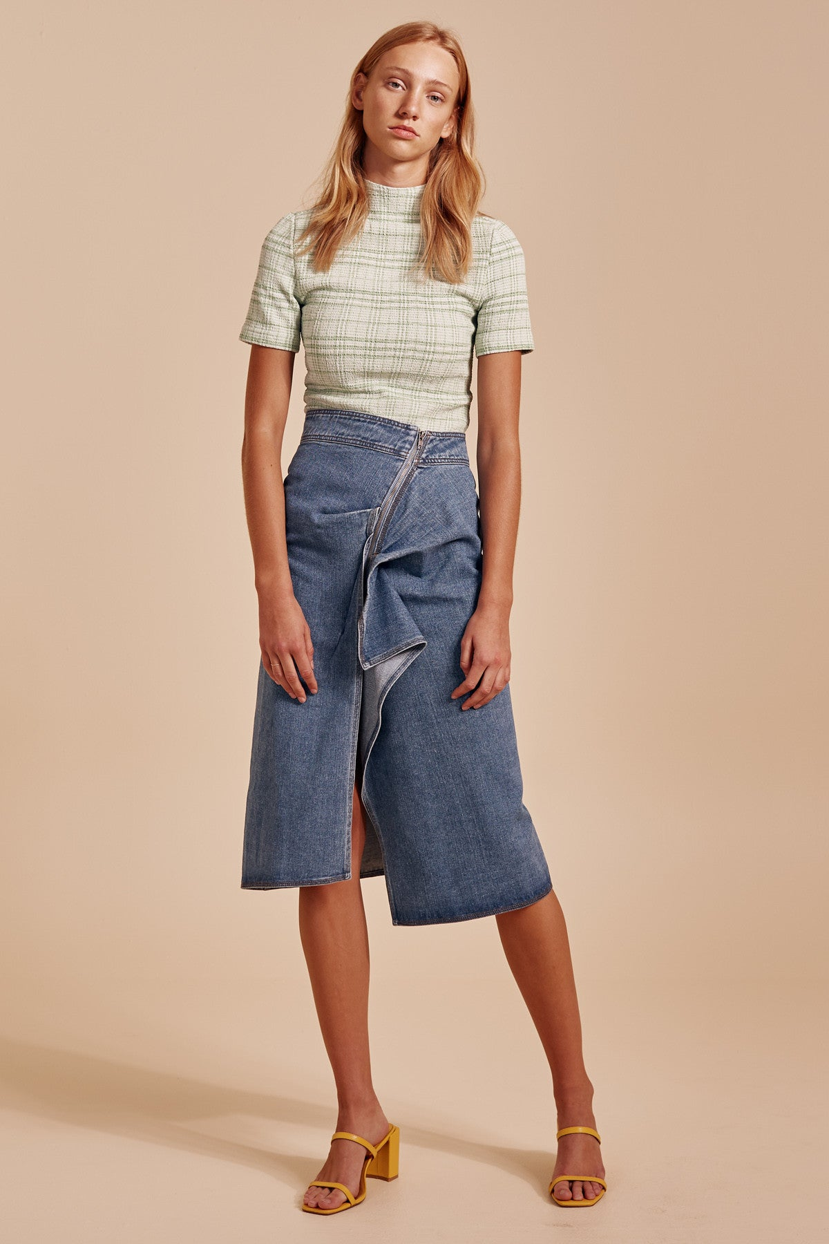 OUT OF SIGHT SKIRT blue denim