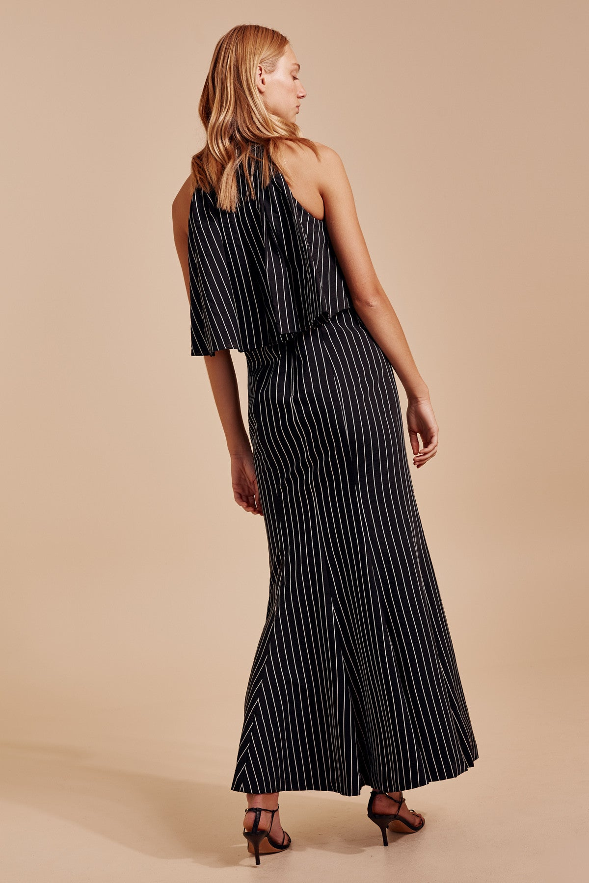 SUFFUSE GOWN black stripe