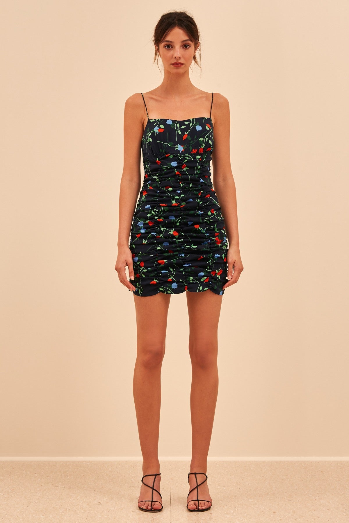 ENDED UP HERE MINI DRESS navy floral