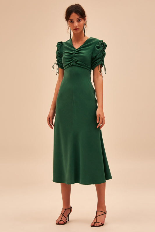 4d0cbc8862a ENDED UP HERE MIDI DRESS forest