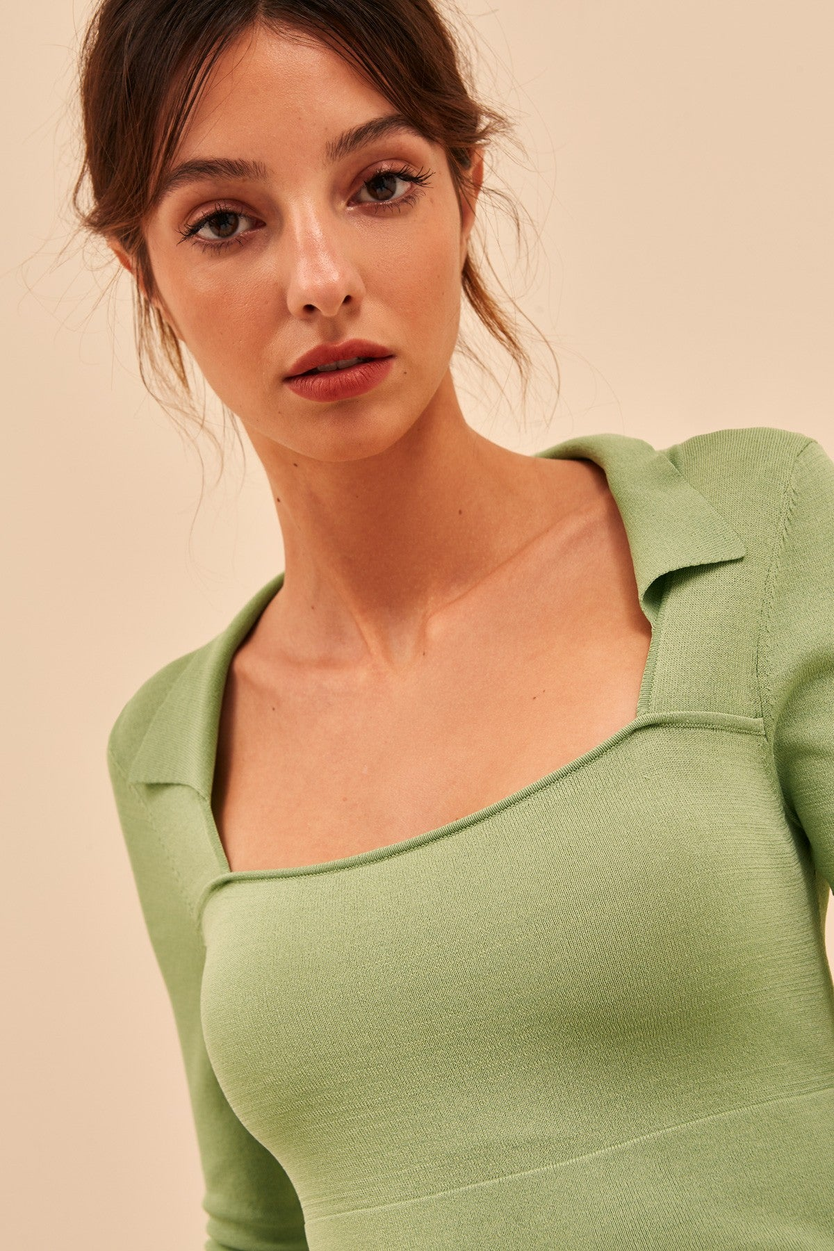 CLOSURE KNIT TOP mint