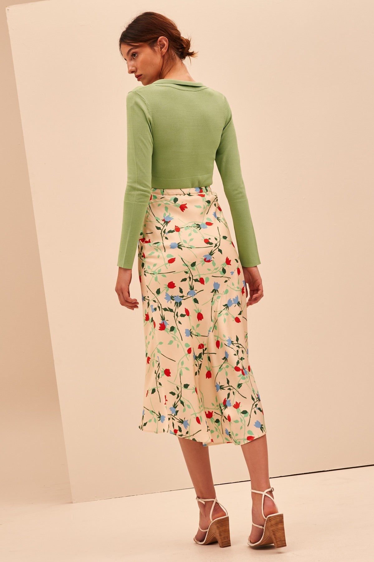 SECTIONAL SKIRT apricot floral