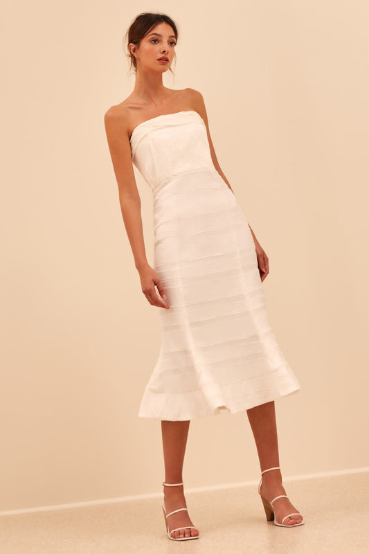 SOLITUDE MIDI DRESS ivory