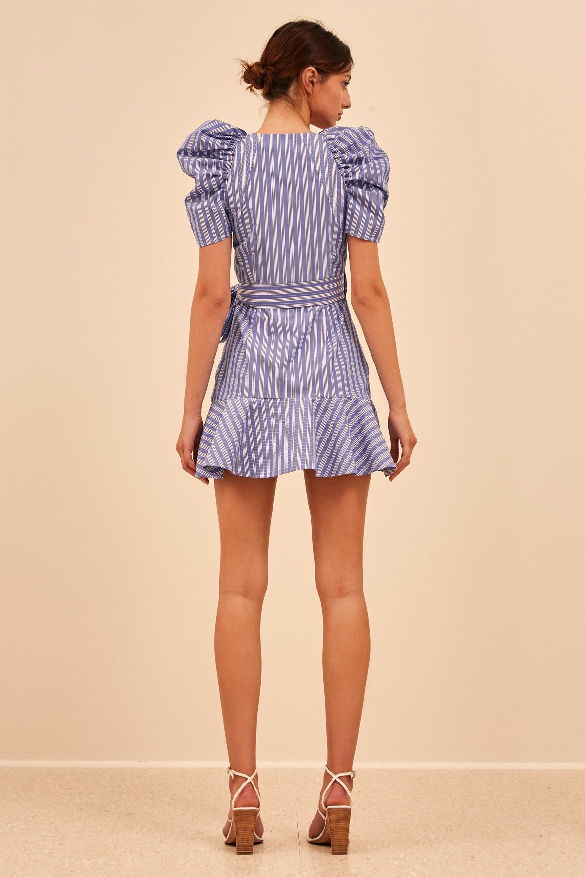MOTIVATIONS DRESS blue stripe